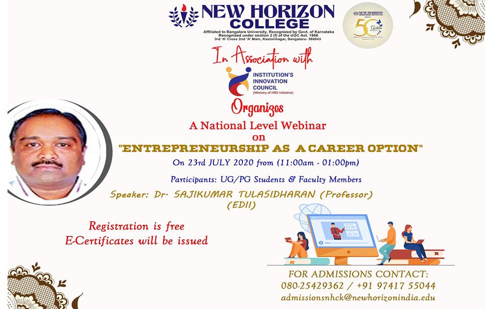 entreprenuer career option